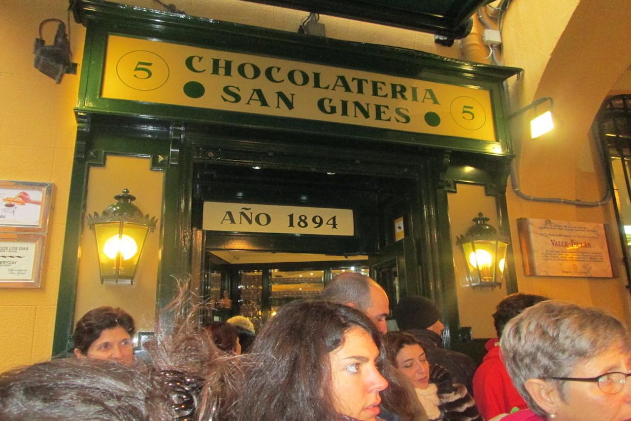 Старинная шоколадница San Gines в Мадриде