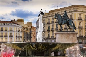 Площадь в Мадриде Puerta del Sol