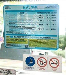 Тарифы на такси в Мадриде